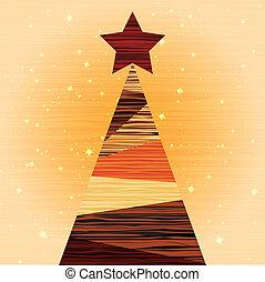 hout, boompje, kerstmis, achtergrond