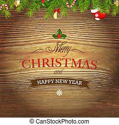 hout, kerstmis, kerstmis, achtergrond, speelgoed
