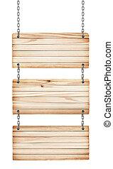 houten, ouderwetse , vrijstaand, achtergrond, tekens & borden, witte