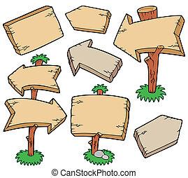 houten raad, verzameling