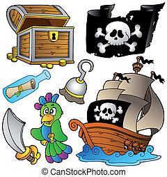 houten, scheeps , zeerover, verzameling
