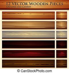 houten textuur, achtergrond, illustratie, seamless