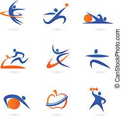 iconen, 2, fitness, -