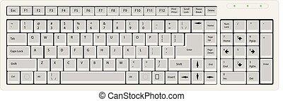 illustratie, de computer van het toetsenbord, vector