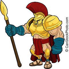 illustratie, spartan, gladiator