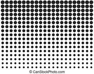 illustration., cirkels, vector, punten, halftone, overgang, pattern.