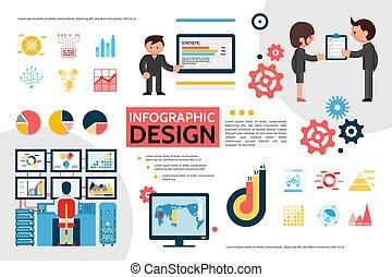 infographic, plat, concept