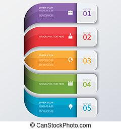 infographics, moderne, opties, zakelijk, banner.