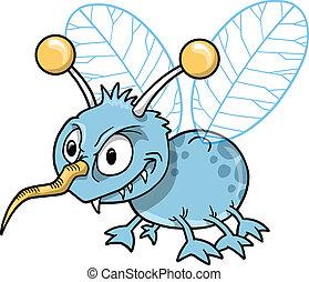 insect, betekenen, gemeen, insect, vector