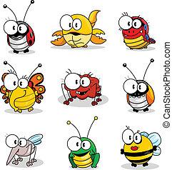 insecten, spotprent