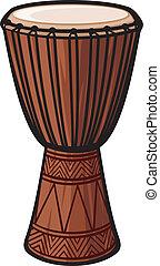 instrument), trommel, afrikaan, (music