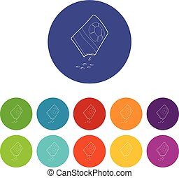isometric, bloem, stijl, zak, zaden, pictogram, 3d