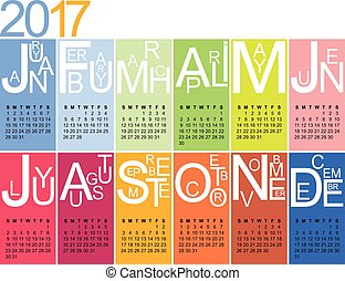 jazzy, kalender, 2017