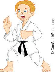 jongen, karate