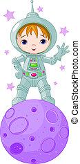 jongen, ruimtevaarder