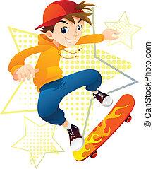 jongen, skater
