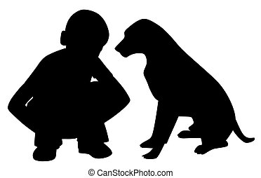 jongen, weinig; niet zo(veel), vrienden, dog, best
