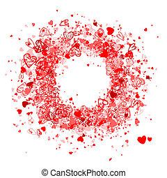 jouw, tekst, frame, ontwerp, plek, foto, valentijn, of