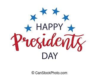 kaart, presidenten, vector, dag