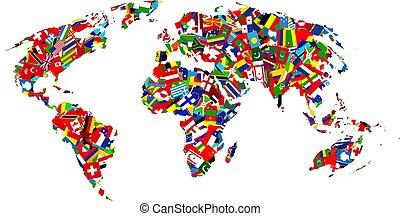 kaart, vlag