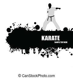 karate, grunge, poster