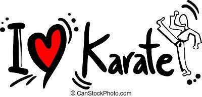 karate, liefde