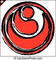 karate, logo, kokoro, shinkyokushinkai