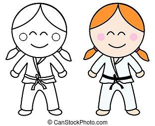 karate, meisje