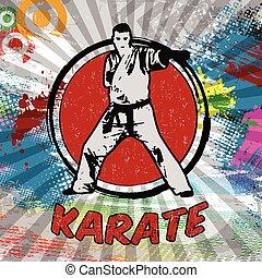 karate, poster