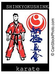 karate, poster, shinkyokushinkai