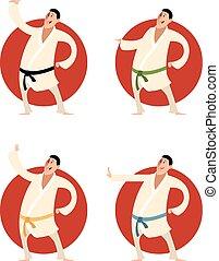 karate, set