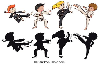 karate, set, geitjes