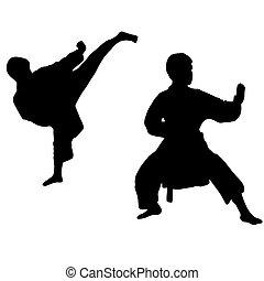 karate, sportende, boy.