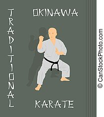 karate, verloofd, g, man