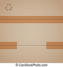 karton, achtergrond, vector