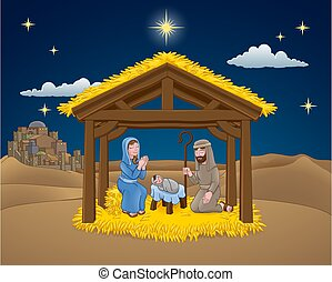 kerstkraam, spotprent, kerstmis
