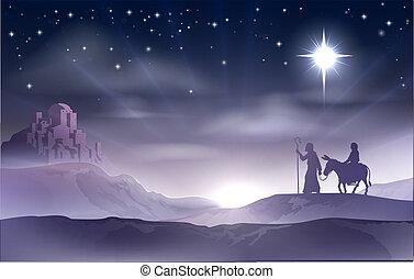 kerstmis geboorte, joseph, maria