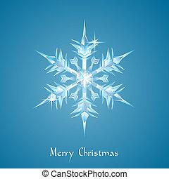 kerstmis, groet, sneeuwvlok