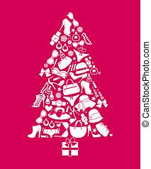 kerstmis, mode, boompje