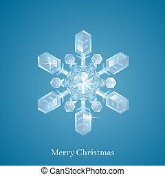 kerstmis, sneeuwvlok