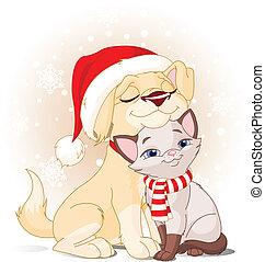 kerstmis, vrienden