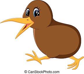 kiwi vogel, dichtbegroeid boven