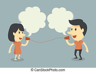 klesten, telefoon, kop