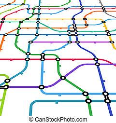 kleur, abstract, plan, perspectief, metro