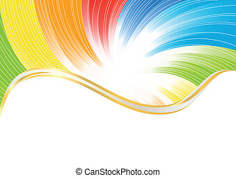 kleur, abstract, vector, helder, achtergrond