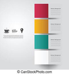 kleur, achtergrond., abstract, vector, plein
