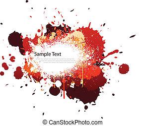 kleur, gespetter, toon, rood