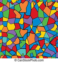 kleur, mozaïek