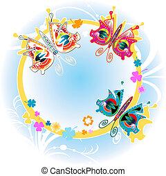 kleurrijke, vlinder