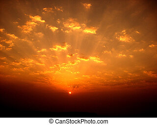 kleurrijke zonsopgang